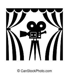 appareil photo, théâtre, pellicule, cinéma