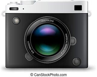 appareil photo, vecteur, icône