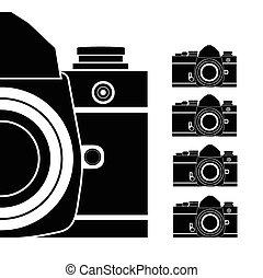appareil photo, vecteur, illustration