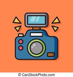 appareil photo, vecteur, pellicule, icône