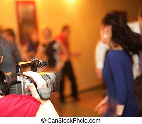 appareil photo, vidéo, événement, couverture
