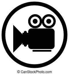 appareil photo, vidéo, icône