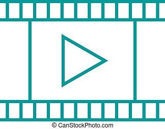 appareil photo, vrai, détaillé, pellicule, cinéma, filmstrip, leaked, vecteur, vide, lumière, négatif, cadre, vendange, illustration., hautement