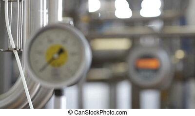 appareil, pour, mesurer, pression, dans, pipes.