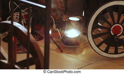 appareil, rayons légers, concert