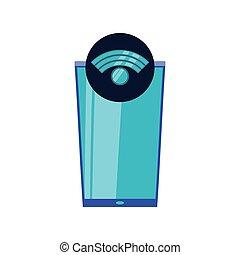 appareil, signal, smartphone, wifi