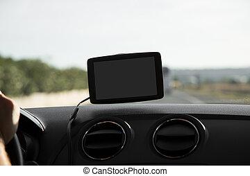 appareil, voiture, navigation