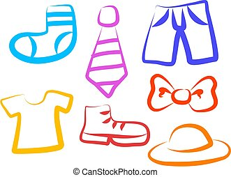 Apparel icons - clothing items