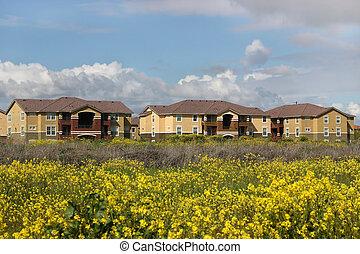 appartamenti, in, primavera