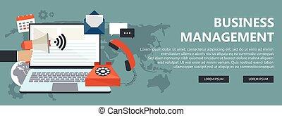 appartamento, amministrazione, affari, concept., illustrazione, vettore