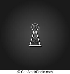 appartamento, antenna, trasmissione, torretta radiofonica, icona