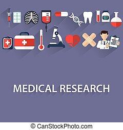 appartamento, assistenza sanitaria, e, ricerca medica, fondo., sanità, sistema, concept., medicina, e, chimico, ingegneria