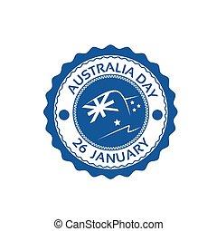 appartamento, australia, francobollo, bandiera nazionale, vacanza, giorno