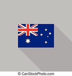 appartamento, australia, illustrazione, bandiera, vettore, disegno