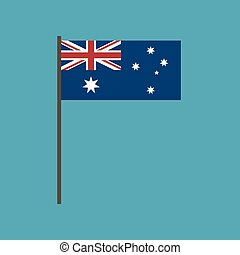 appartamento, bandiera, australia, disegno, icona