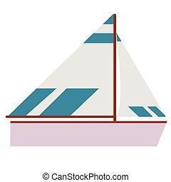appartamento, barca, illustrazione