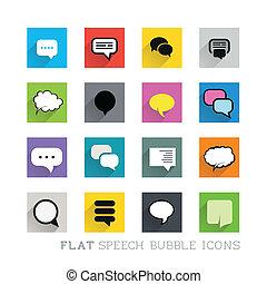 appartamento, bolle, -, discorso, icone