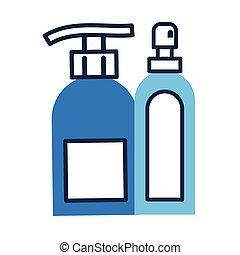 appartamento, bottiglia di plastica, distributore, stile, ...