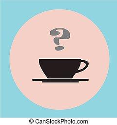 appartamento, caffè, nero, fondo., tazza