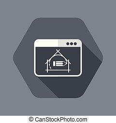 appartamento, casa, -, progetto, vettore, disegno, icona