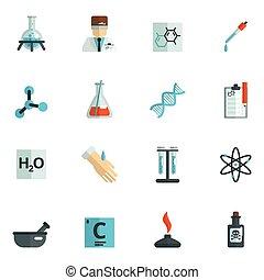 appartamento, chimica, icone