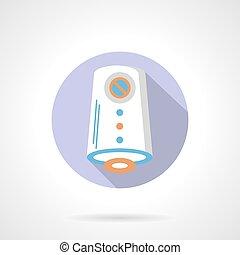 appartamento, colorare, aria, vettore, purificazione, rotondo, icona