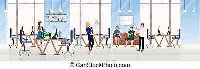 appartamento, concetto, centro, spazio ufficio, riuscito,...