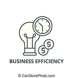 appartamento, concetto, contorno, affari firmano, illustrazione, simbolo, efficienza, vector., icona, linea