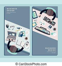 appartamento, concetto, disegno, affari
