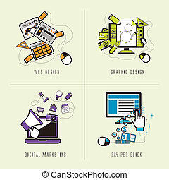 appartamento, concetto, disegno, marketing