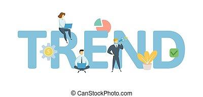appartamento, concetto, illustration., lettere, icons., isolato, fondo., vettore, keywords, bianco, trend.