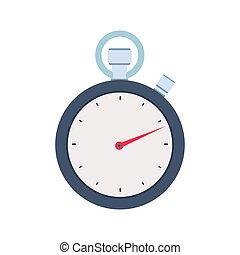 appartamento, concetto, isolato, illustrazione, vettore, fondo, cronometro, bianco, icona, design.