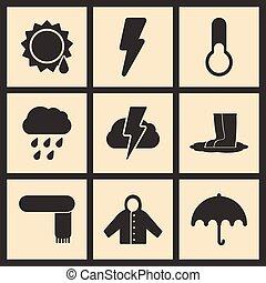 appartamento, concetto, mobile, autunno, domanda, tempo, nero, bianco