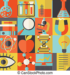 appartamento, concetto, scienza, illustrazione, disegno, stile
