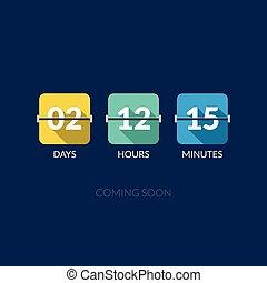 appartamento, counter., orologio, buffetto, timer, conto...