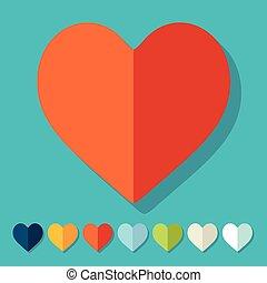 appartamento, design:, cuore