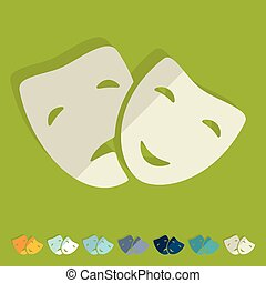 appartamento, design:, maschera
