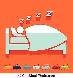 appartamento, design:, sonno