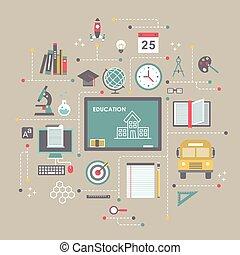 appartamento, disegno, concetto, educazione