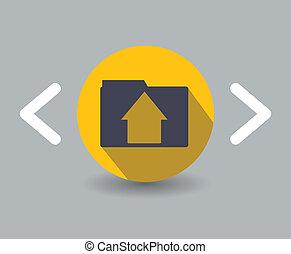 appartamento, disegno, icona casa