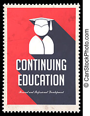 appartamento, educazione, continuare, rosso, design.