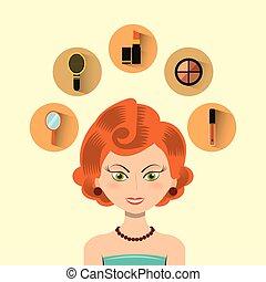 appartamento, fare, tesare, icone