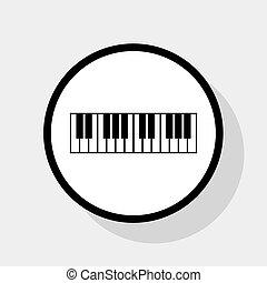 appartamento, grigio, segno., bianco, fondo., pianoforte, ...