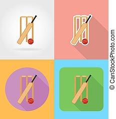 appartamento, grillo, set, icone, illustrazione, apparecchiatura, vettore