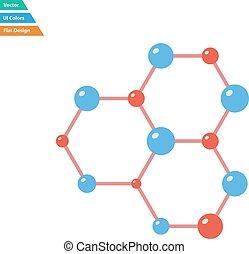 appartamento, hexa, collegamento, disegno, chimica, icona