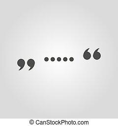 appartamento, icon., quotazione, simbolo., citazione