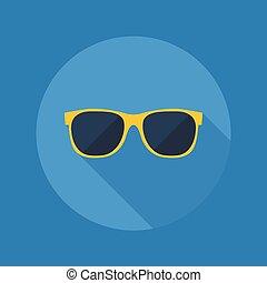 appartamento, icon., tempo, occhiali da sole