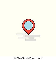 appartamento, icon., vettore, navigazione, mappa