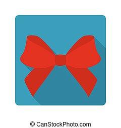 appartamento, icona, arco rosso
