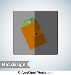 appartamento, icona, disegnare elemento